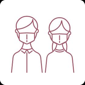 スタッフのマスク着用、会食場の換気、お客様への健康チェック、など感染防止策にご理解とご協力をお願いいたします。